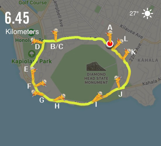 ハワイおすすめジョギングコース | ダイアモンドヘッドコース