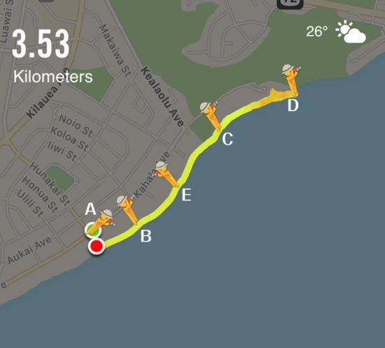 ハワイおすすめジョギングコース | 裸足でカハラビーチコース