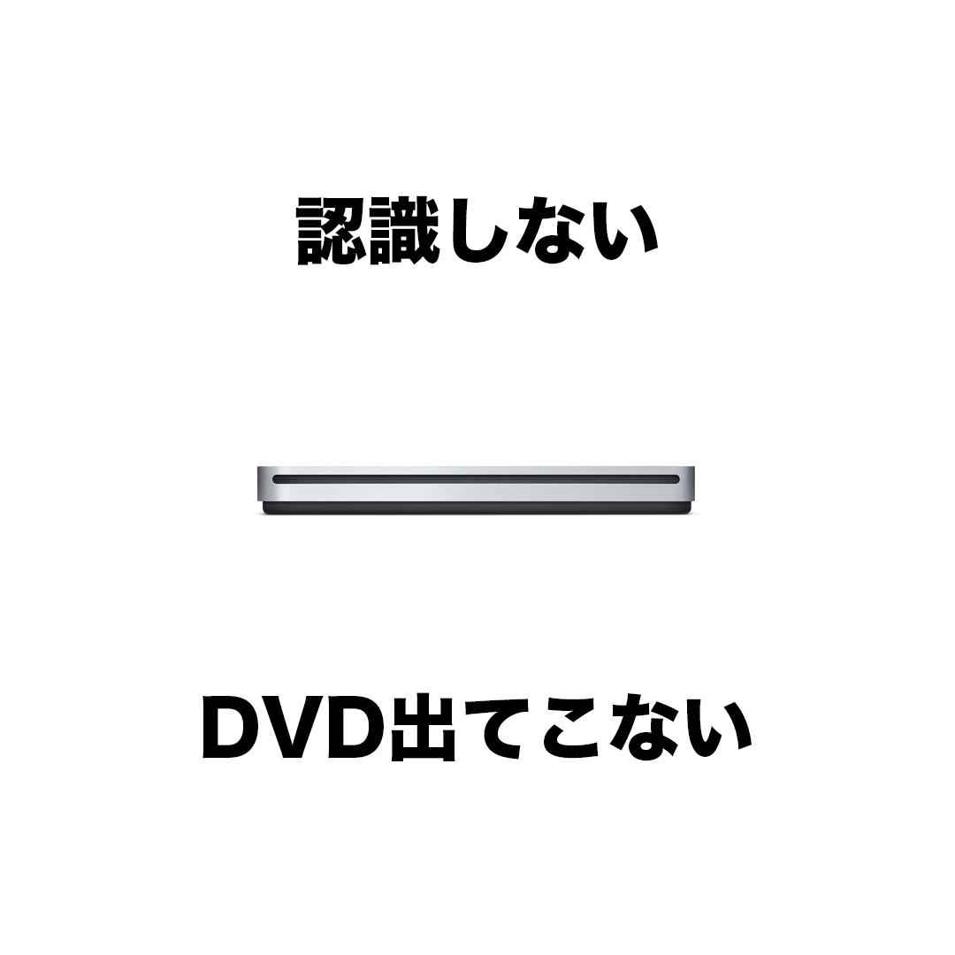 Apple USB SuperDriveが認識しない、DVDが取り出せない件